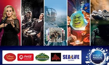 Biglietti London Eye, Madame Tussauds, SEA LIFE Aquarium, The London Dungeon